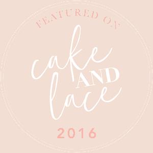 Cake and Lace Wedding Blog Badges