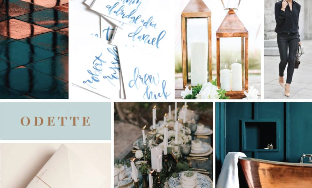 Color Palette: Daring Blues and Copper