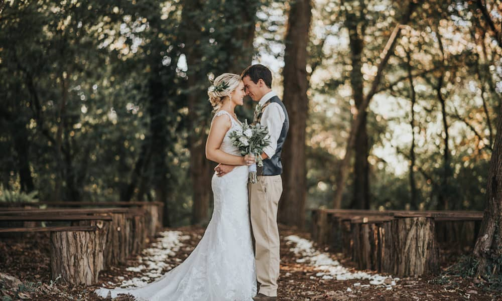 Earth-Toned Woodland Wedding: Megan & Brett