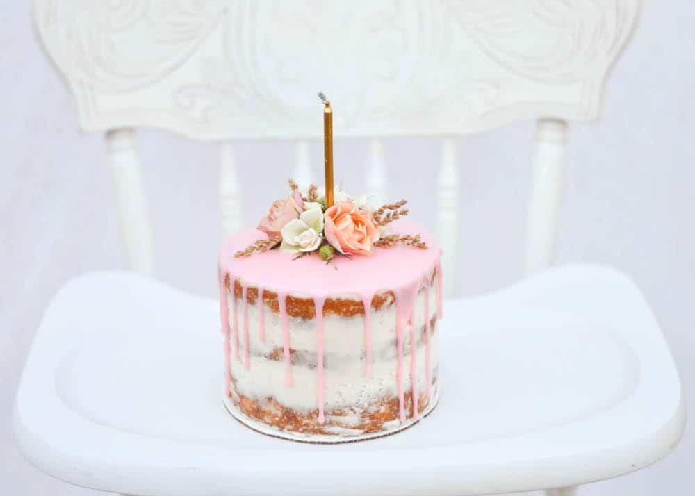 One Year Olds Birthday Cake Smashing Cake Lace Wedding Blog