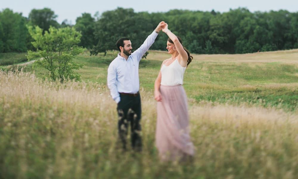 Midwest Prairie Engagement: Amanda & Casey