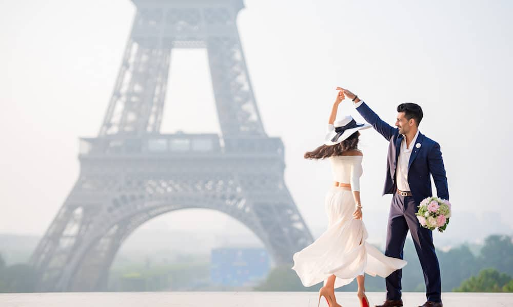Fashionable Engagement in Paris: Par & Amir