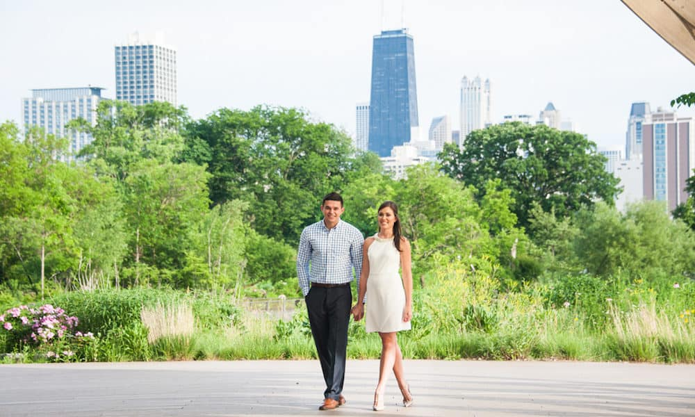 Modern Chicago Engagement: Gabby & John