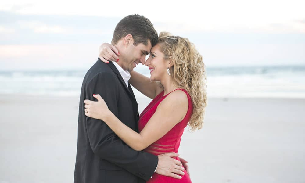 Glamorous Beach Engagement: Angel & Ian