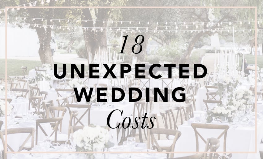Don't Forget About These 18 Unexpected Wedding Costs