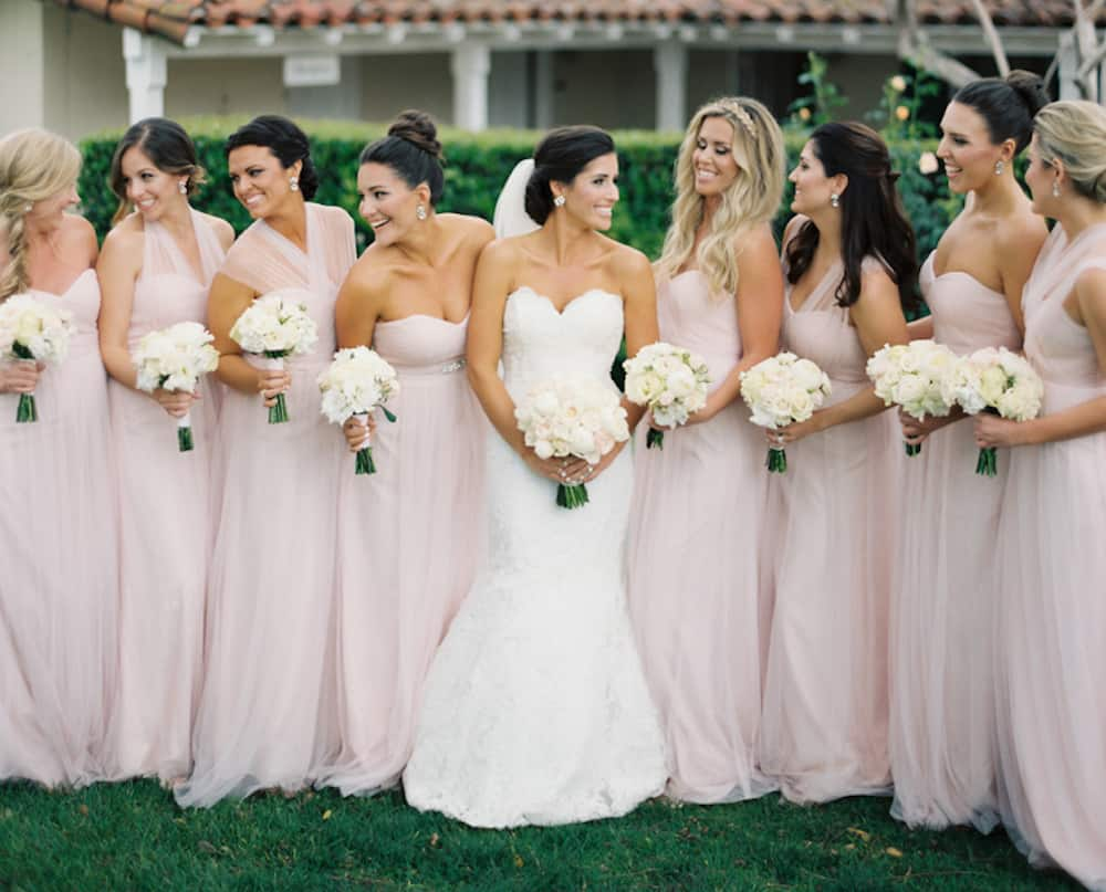 11 examples of mix and match bridesmaid dresses done right cake ways to use mix and match bridesmaid dresses at your wedding ombrellifo Images