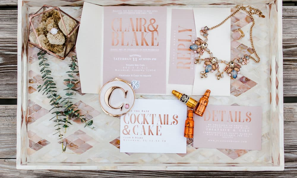 Modern Copper and Rose Gold Riverfront Styled Shoot