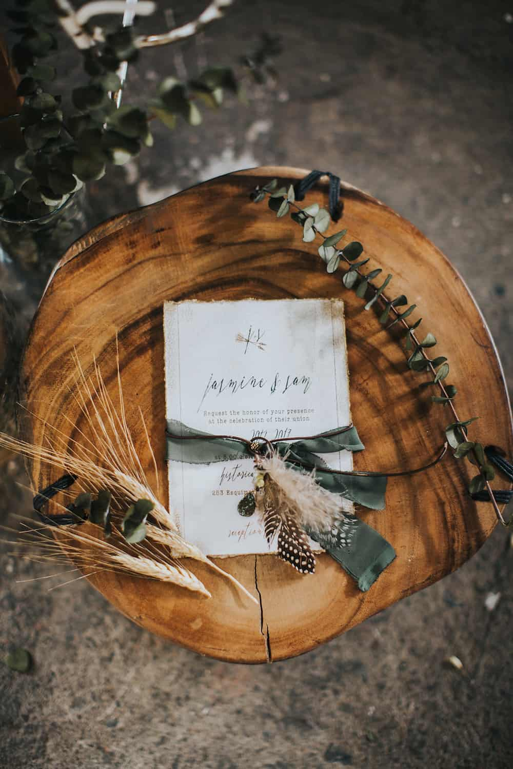 the wedding cake tree by melanie hudson bohemian feather infused warehouse wedding inspiration 20917