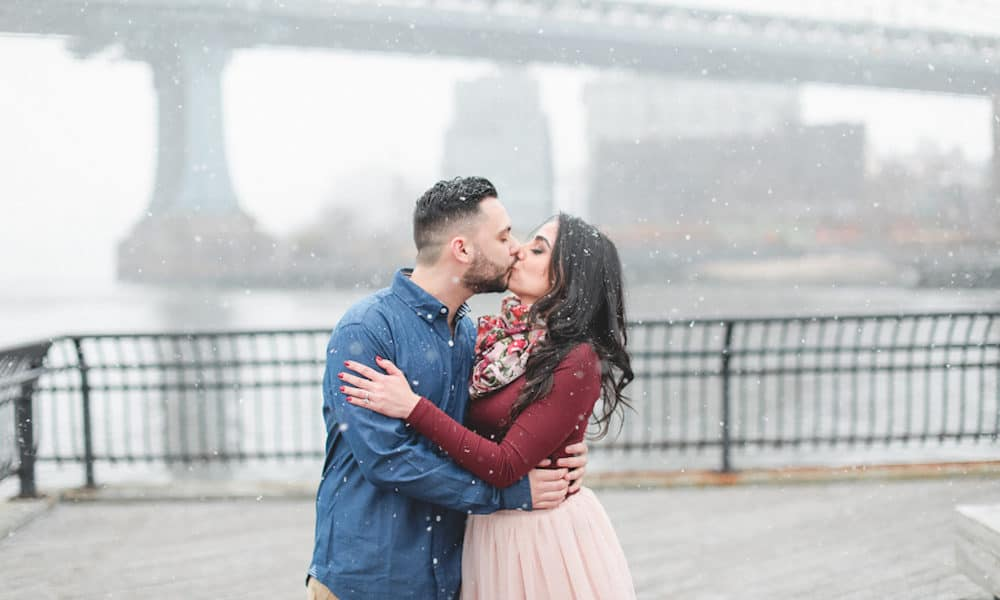 Snowy New York City Engagement: Tannie & Kevin