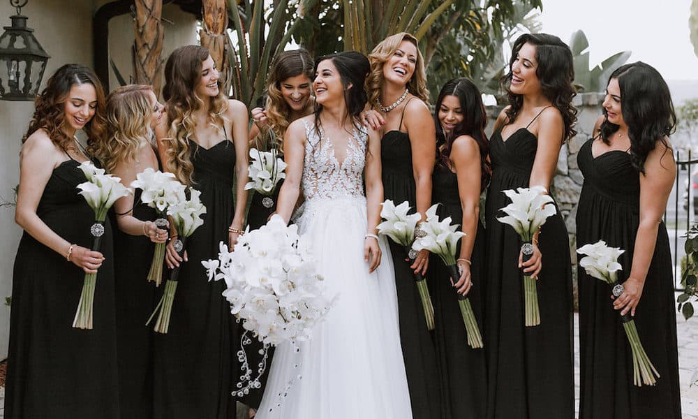 Luxurious Black and White Wedding in California: Kristi & Donny