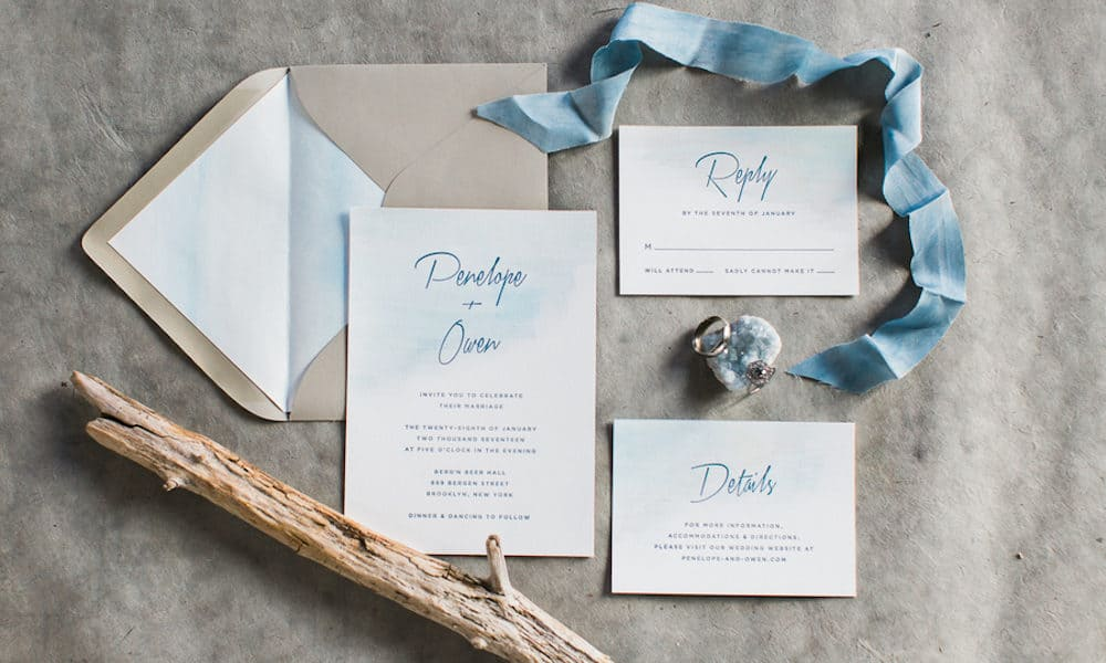 Romantic Beach-Inspired Dusty Blue Styled Shoot