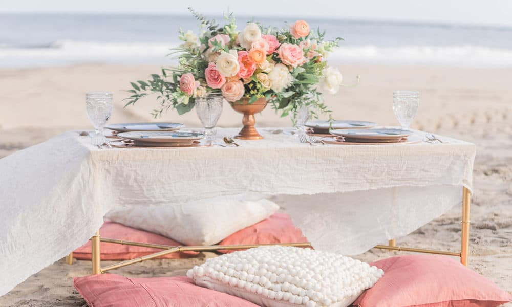 Romantic and Intimate Beach Wedding Inspiration