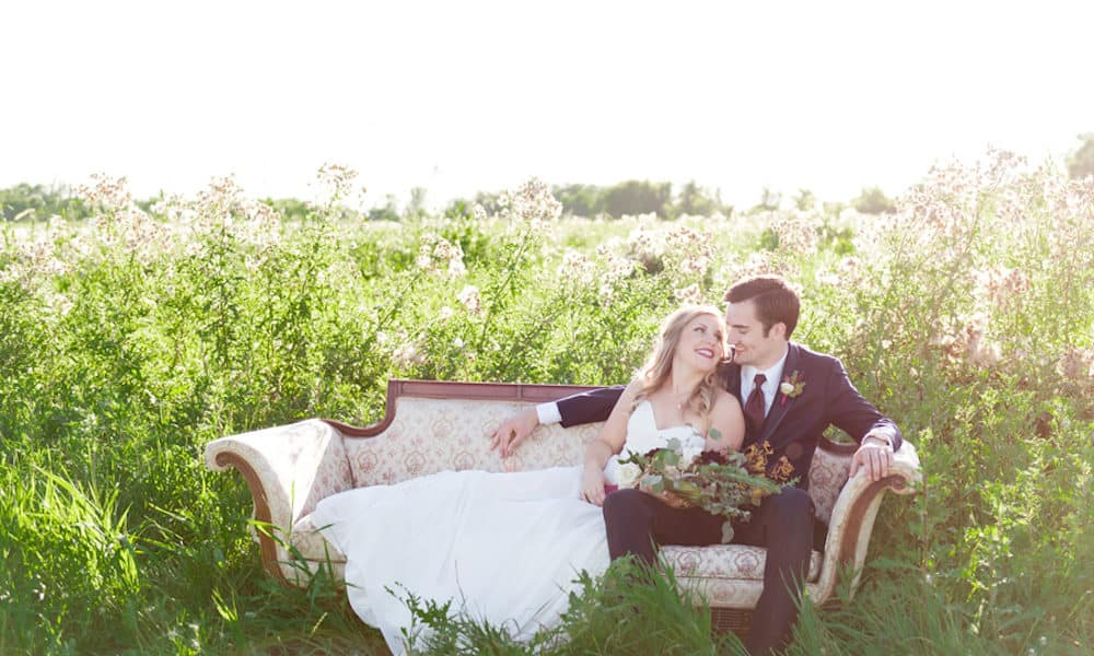 Romantic Woodland Barn Wedding Inspiration