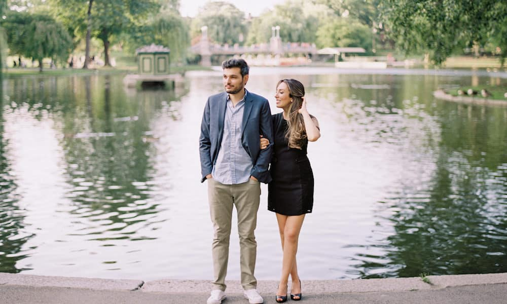 Chic and Sophisticated Boston Engagement: Victoria & Ant