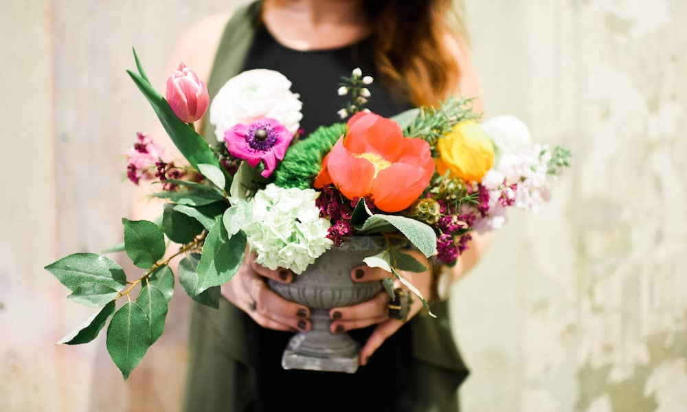 DIY Wedding Arrangement Floral Recipe