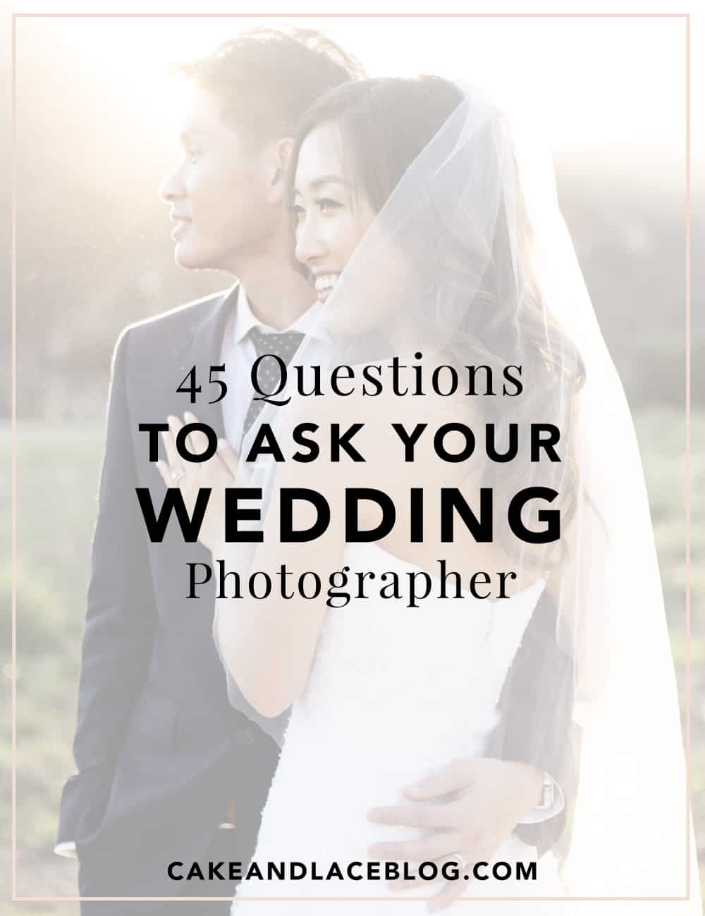 Ask a photographer questions wedding to