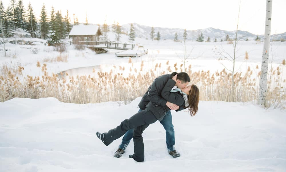 Cozy Winter Proposal in Utah: Kelley & Randall