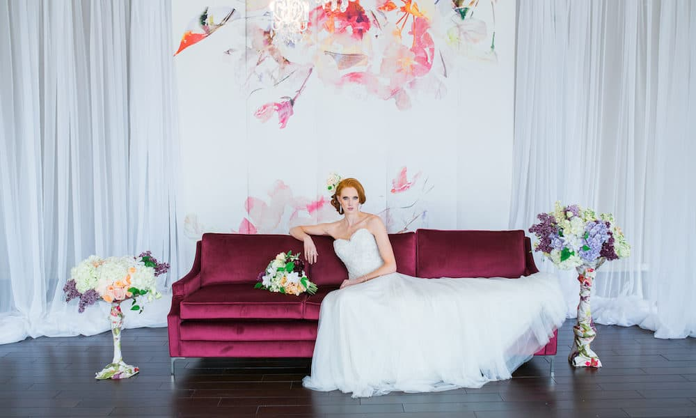 Watercolor and Floral Pattern Wedding Inspiration