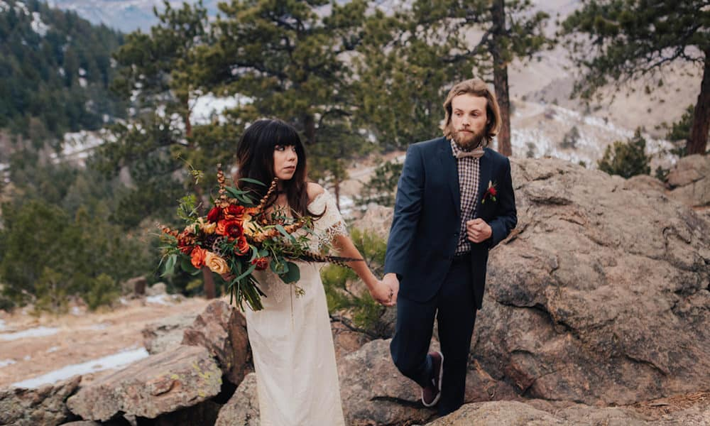 Bohemian Elopement in the Colorado Mountains