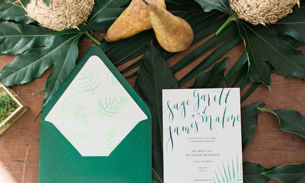 Modern Tropical Wedding Inspiration from Scotland
