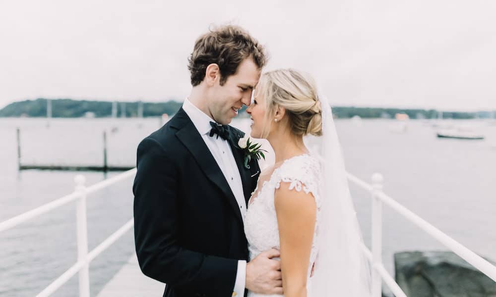 Elegant Tented Wedding at a New York Yacht Club: Aubree & Trevor