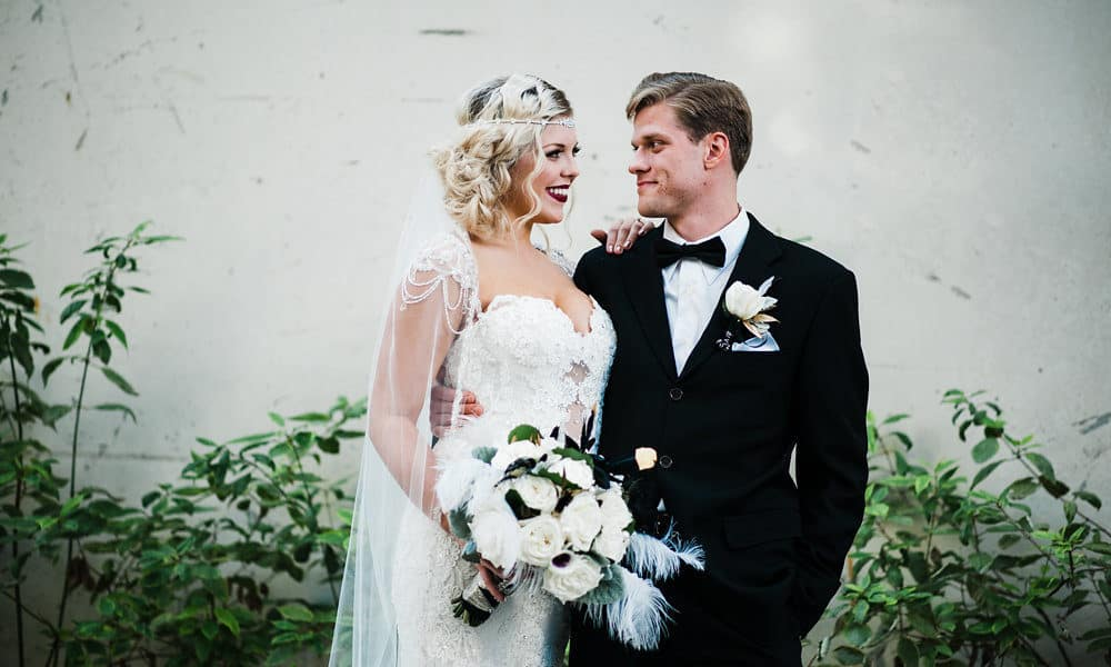 Black, White, and Gold Great Gatsby Wedding Inspiration