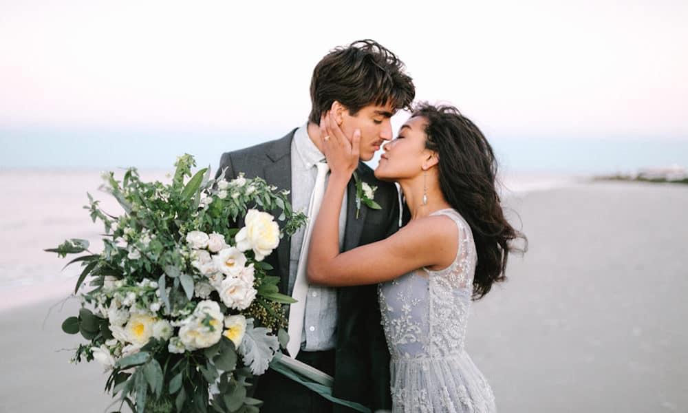 Dusty Blue and Greenery Beach Wedding Inspiration