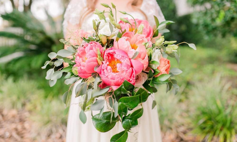 Pink and Dusty Blue Feminine Garden Wedding Inspiration