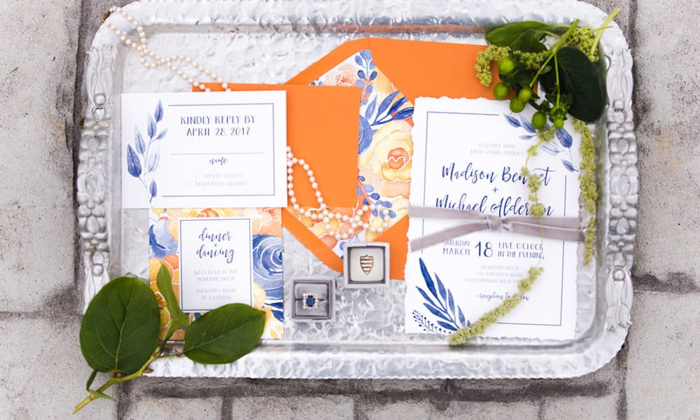 Vibrant Citrus and Floral-Inspired Spring Styled Shoot