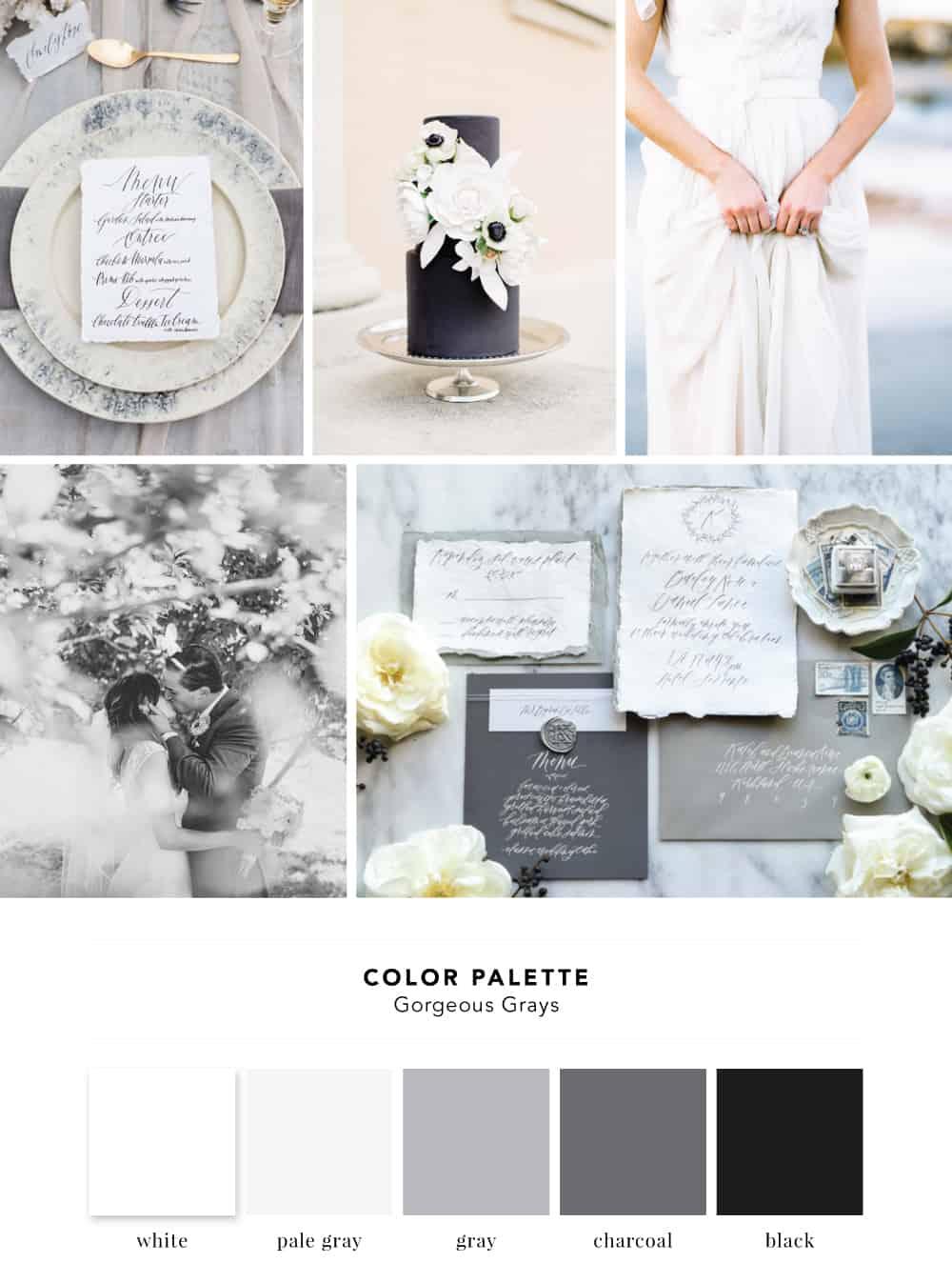 Gray Wedding Color Palette