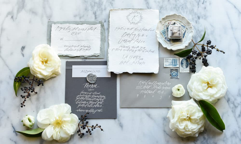 Classy and Neutral Wedding Inspiration on a Rooftop in the City