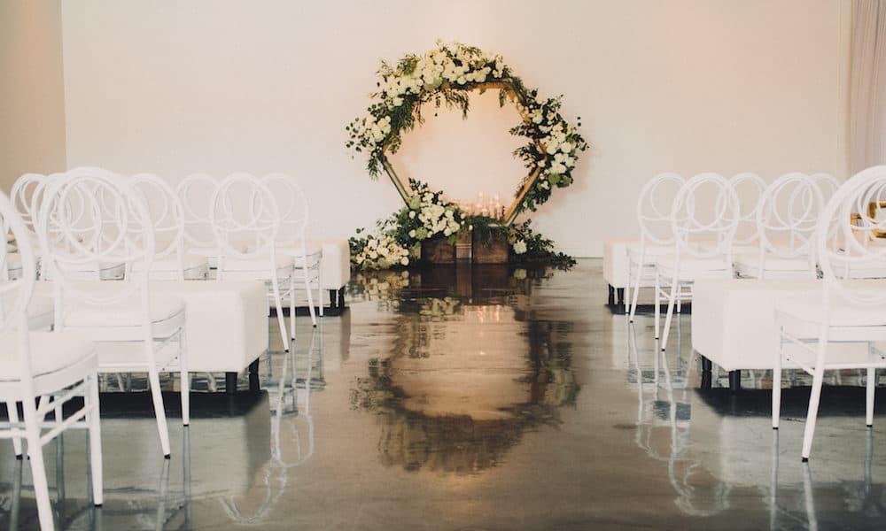 A Modern DIY Black and White Wedding: Erin & Chris