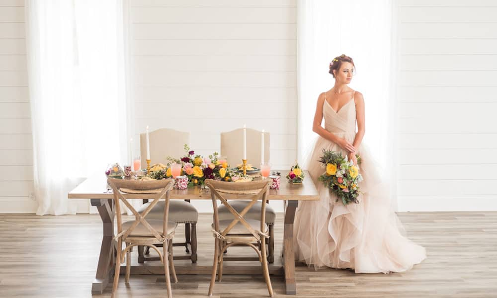 Colorful Bohemian Meets Modern Wedding Inspiration at The Farmhouse