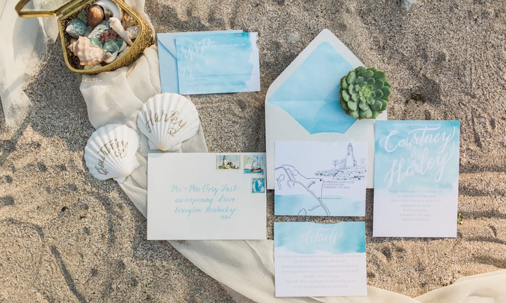 Ocean-Inspired Styled Shoot with Beautiful Blues and Greens