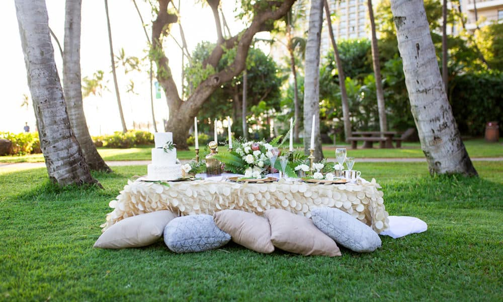 Dreamy White, Gold, and Greenery Wedding Inspiration in Hawaii