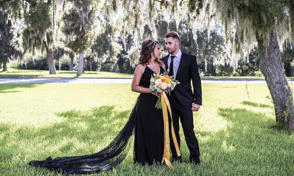 Elegant Black and Gold Vintage Wedding Inspiration in Texas
