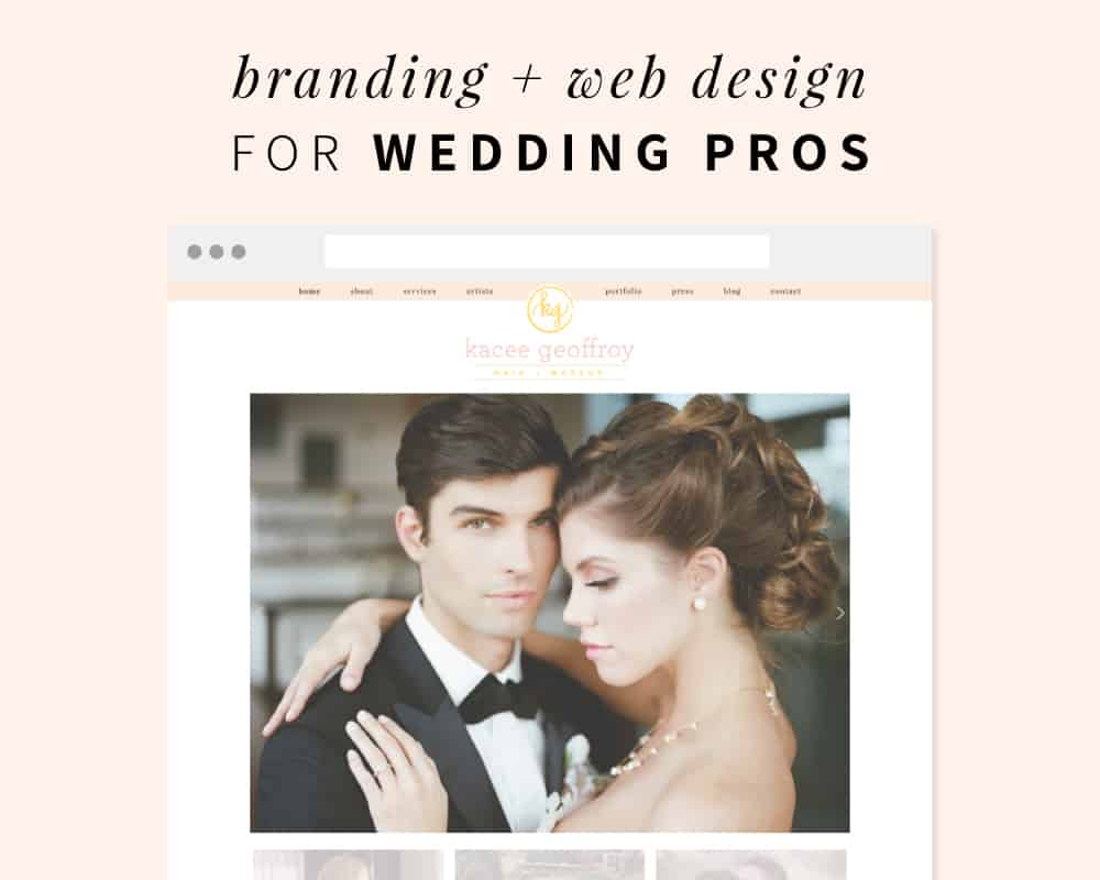 Modern Luxe Creative branding and web design for wedding pros