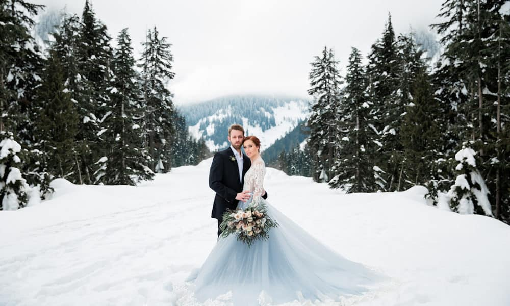 Fairytale Winter Wedding Shoot Inspired by Frozen