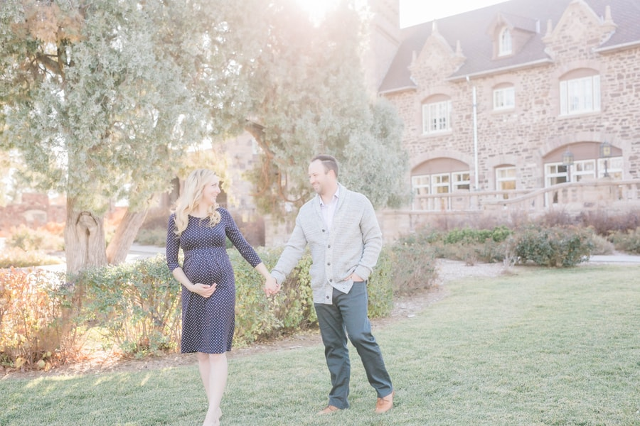 fairytale outdoor maternity session