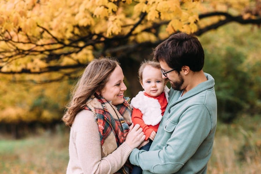 Fall Family Photos at SIUE Campus