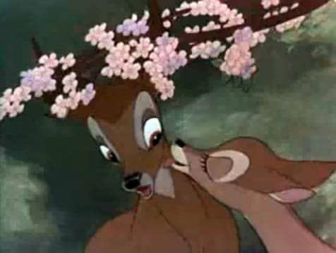 A scene from the Disney film, Bambi