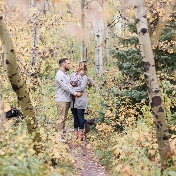 Romantic nature walk