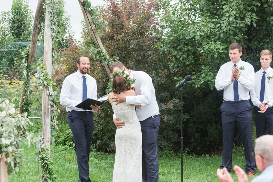 You many now kiss the bride