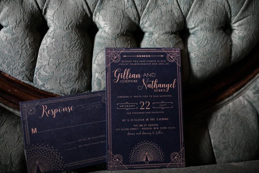 Art Deco Wedding Stationary