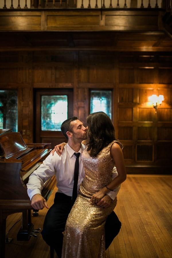 Beautiful Piano Couple Shot