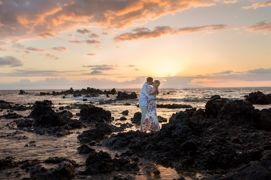 Sunset Engagement Session in Maui, Hawaii