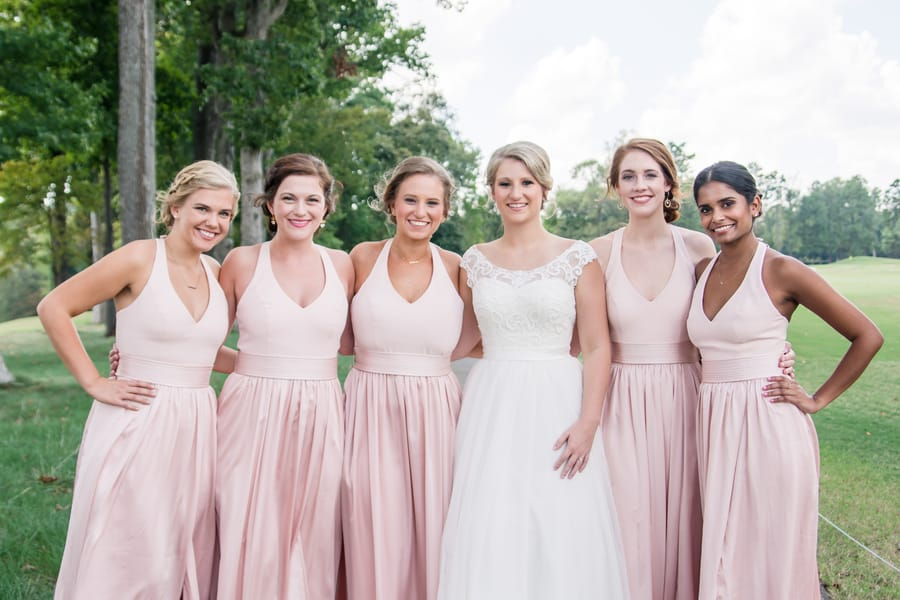 Black White and Pink Country Club Wedding