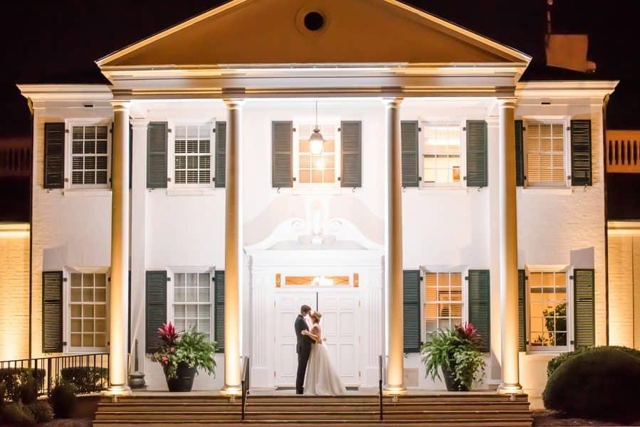 Classic Black, White & Pink Country Club Wedding