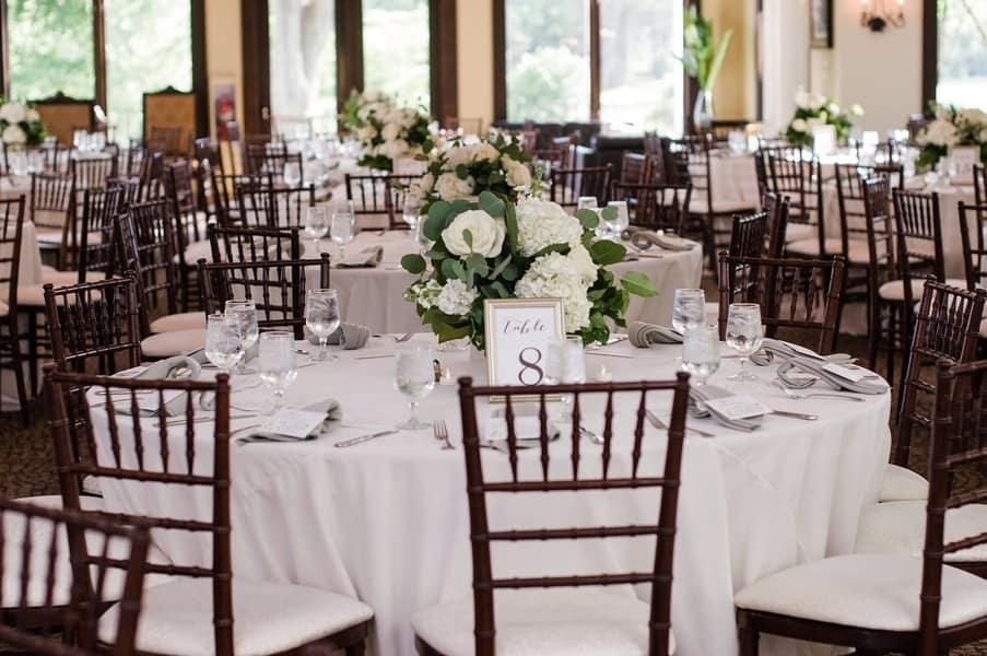 Gorgeous Wedding Reception Set Up Cake And Lace Wedding
