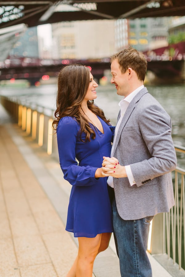Classic and Colorful Downtown Chicago Engagement Session